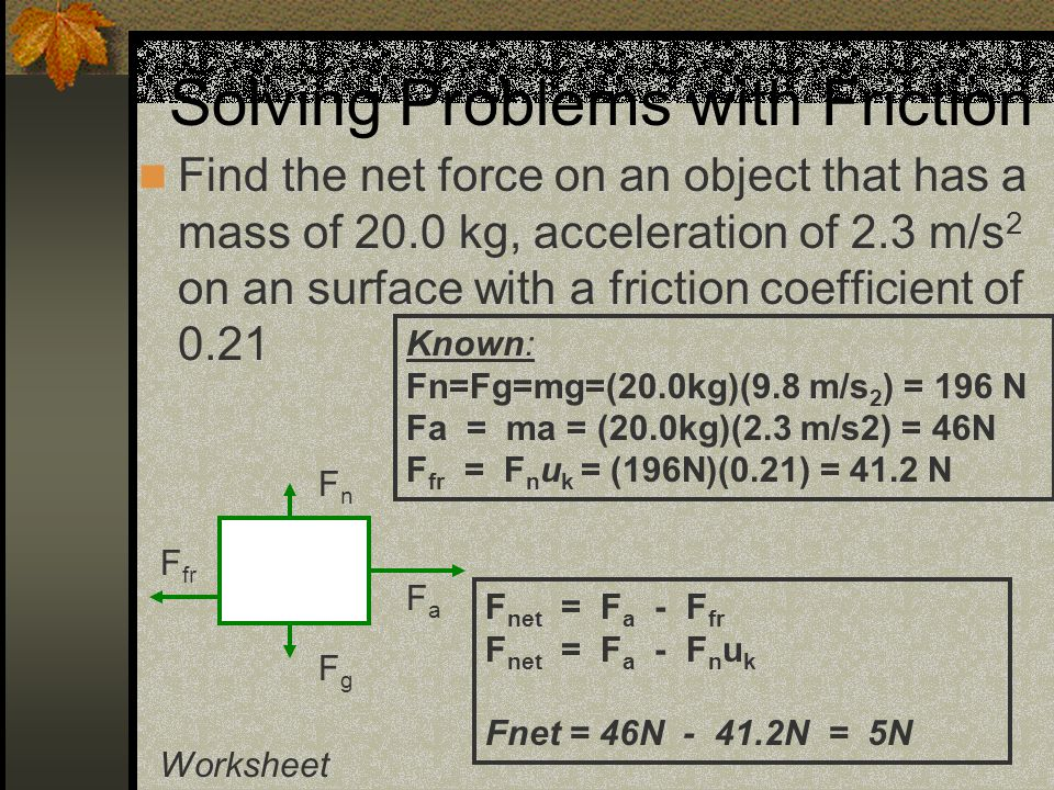 Regents Physics Agenda Introduction to Forces ppt download – Coefficient of Friction Worksheet