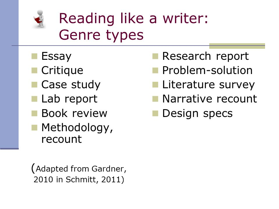 problem solution essay genre Science fiction essaysthe term genre refers to a category of written work which is well established, and is distinguishable from other categories by its unique conventions.