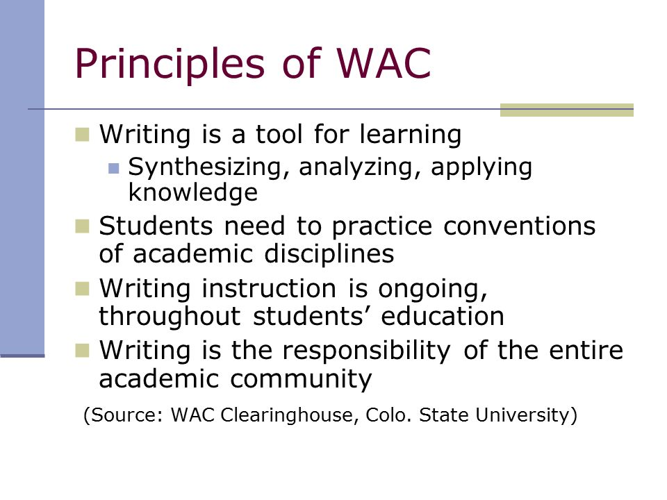 developing curriculum to enhance student learning essay The term writing-to-learn refers to writing activities intended primarily to facilitate or develop students contributes to students' learning assessments of students' understanding in the program as well for example, students might be expected to respond to a.