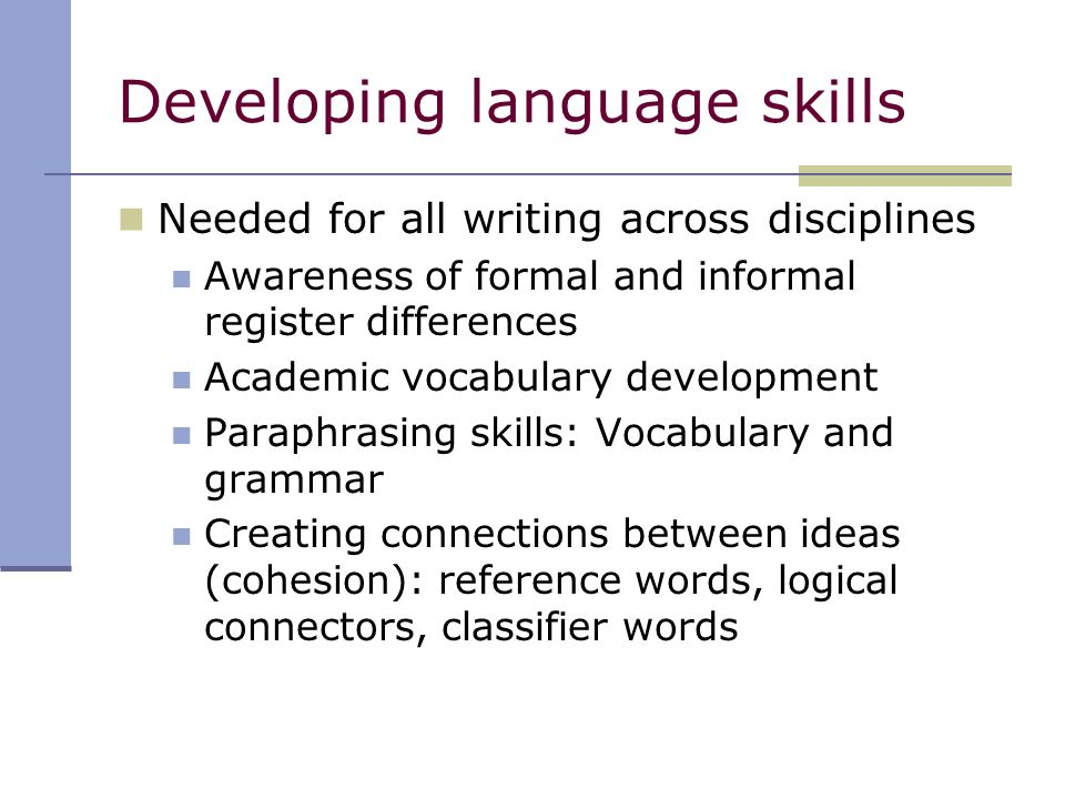 academic skills development 2 In a world where academic skills are often viewed as the priority, social- emotional skill development may not always be on the forefront of most.
