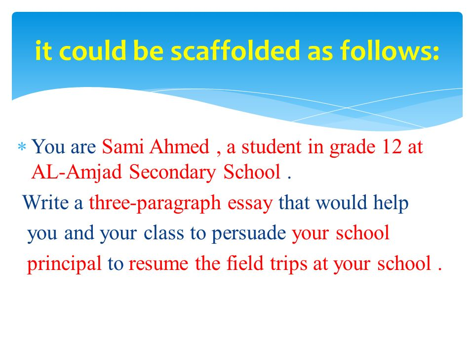 essay on school field trip