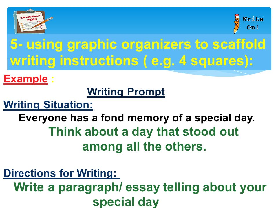 Five paragraph essay instructions  The Five Paragraph Essay     SlidePlayer    Directions  Please respond to the following prompt in a fully developed five  paragraph essay