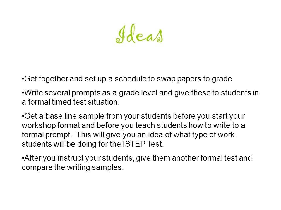 More About Writing Elements of Good Writing Instruction Prompt ...