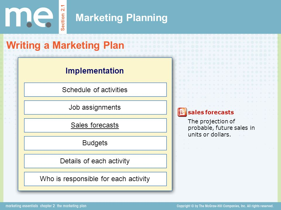 marketing plan assignments Template for a basic marketing plan, including situation analysis, market segmentation, alternatives, recommended strategy, and implications of that strategy.