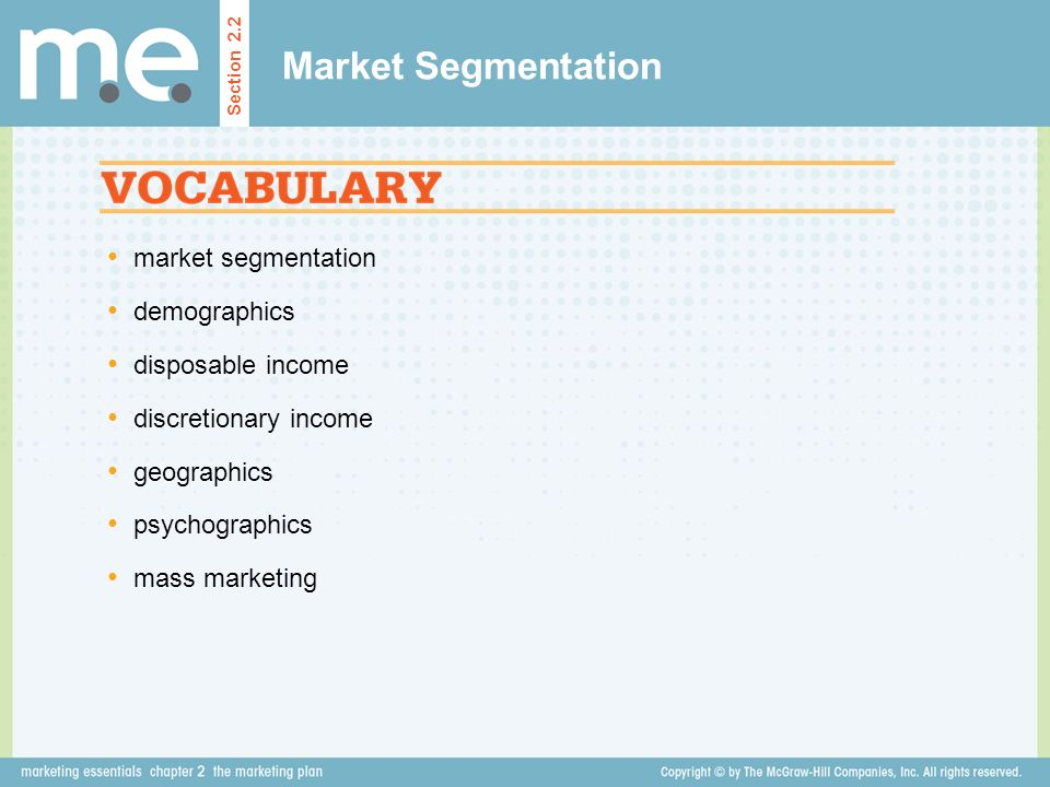 Market Segmentation market segmentation demographics disposable income