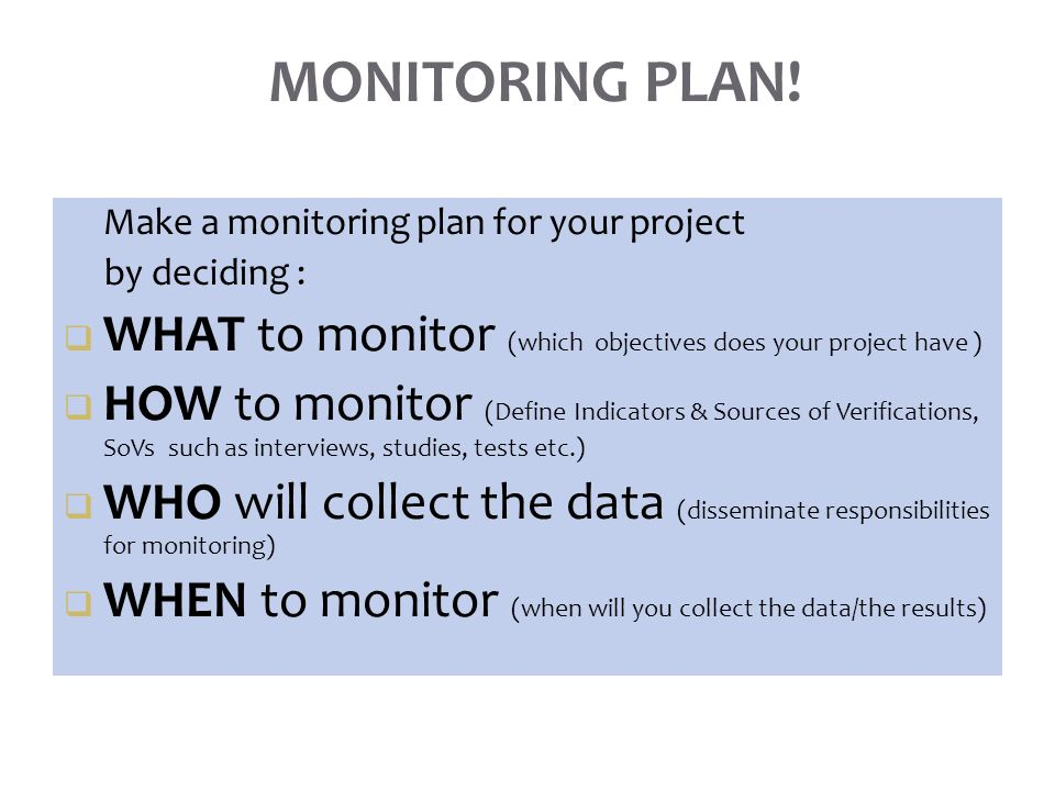 strategic planning and monitoring of projects and programs