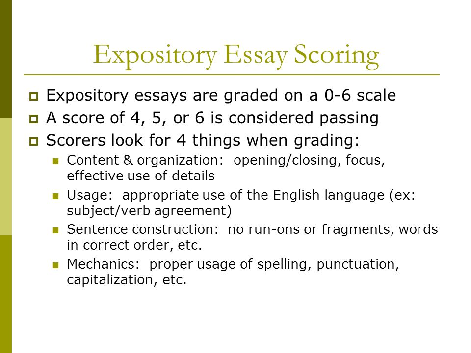 expository essay writing assignment