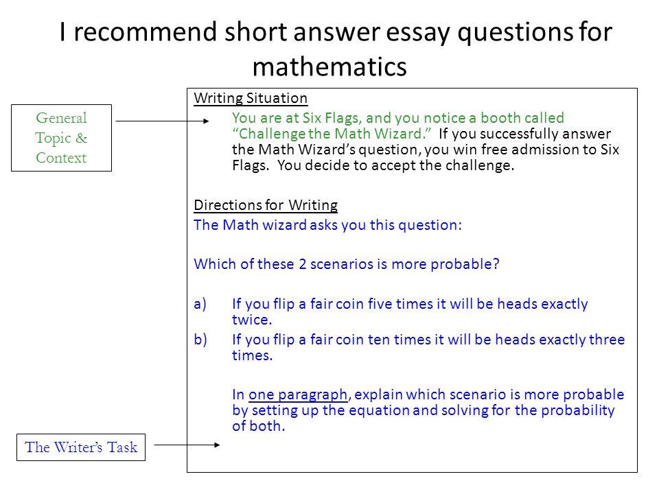 Essay questions essay questions vs short answers