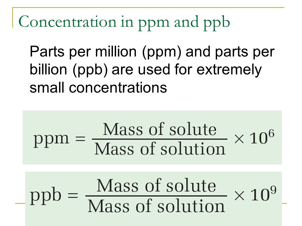 Solution Chemistry Chp 7 ppt download – Parts Per Million Worksheet