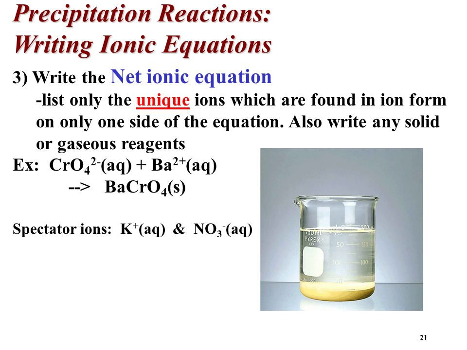 how to find spectator ions in precipitation reactions