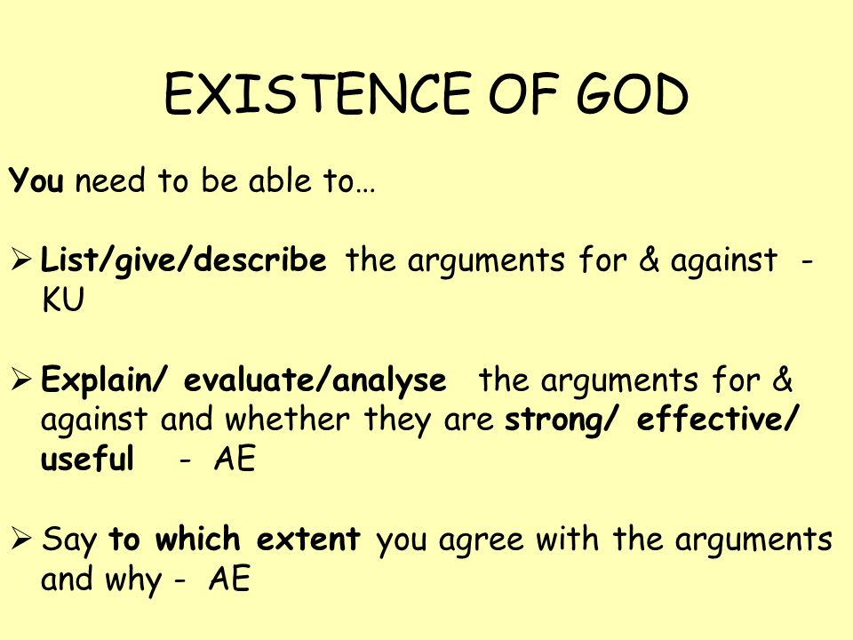 an argument against the reality of god There are a lot of good arguments against atheism (like the argument from contingency) this has some intuitive appeal - after all, how can one make an assertion concerning all of reality (ie, god does not exist anywhere.