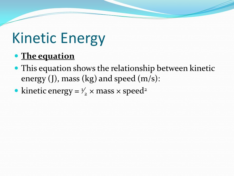 the energy balance equation is relationship between mass