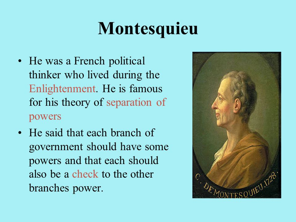 Separation Of Powers Montesquieu