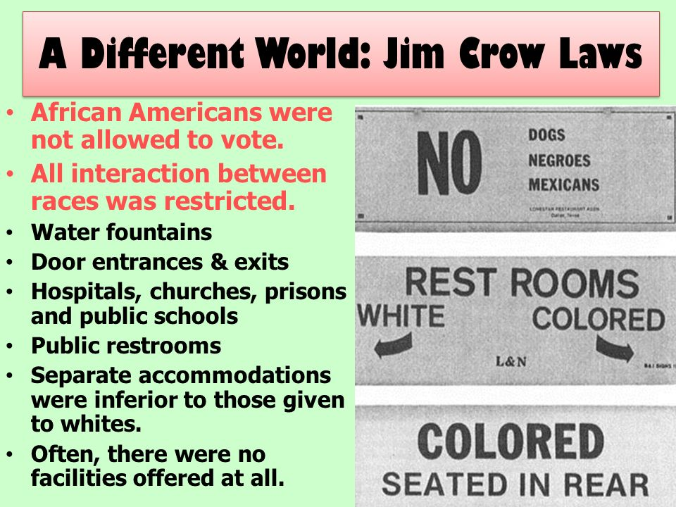 jim crow laws and dating
