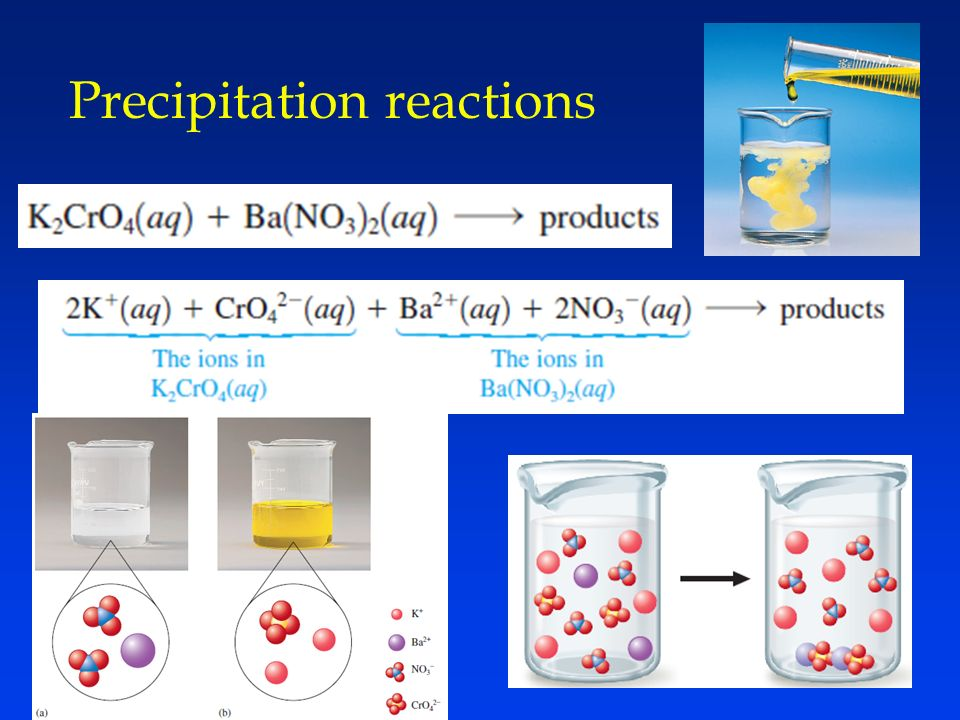 how to tell if it is a precipitation reaction