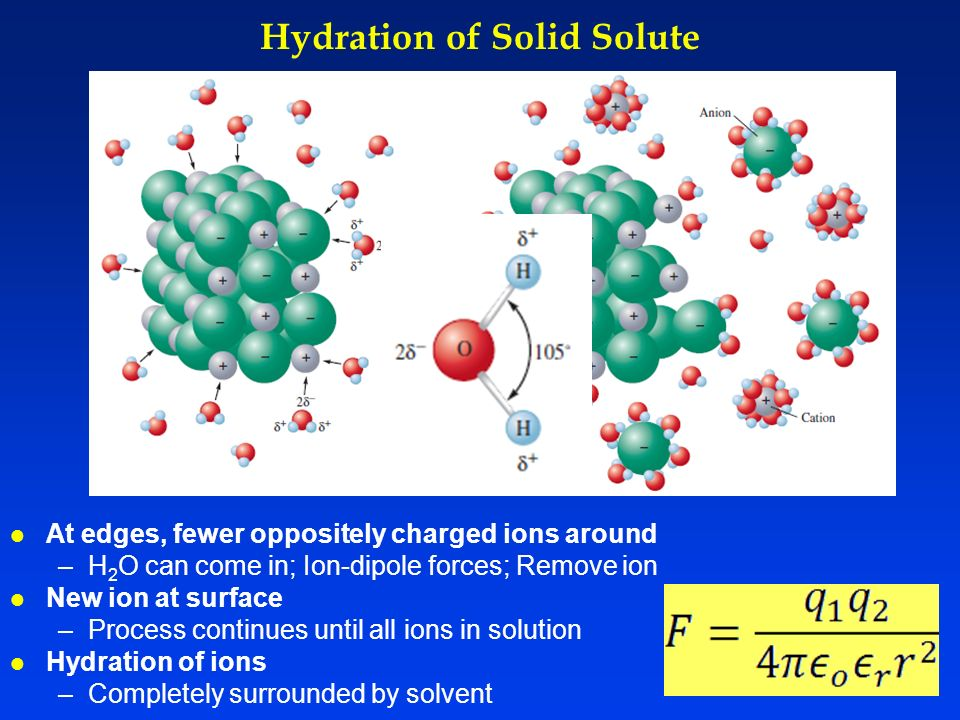 Hydration of Solid Solute