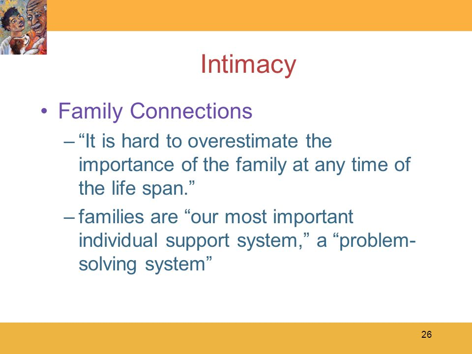 Intimacy Family Connections