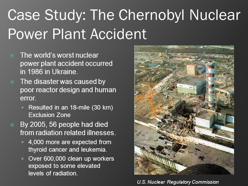 Free Case Study on Chernobyl Nuclear Disaster ...