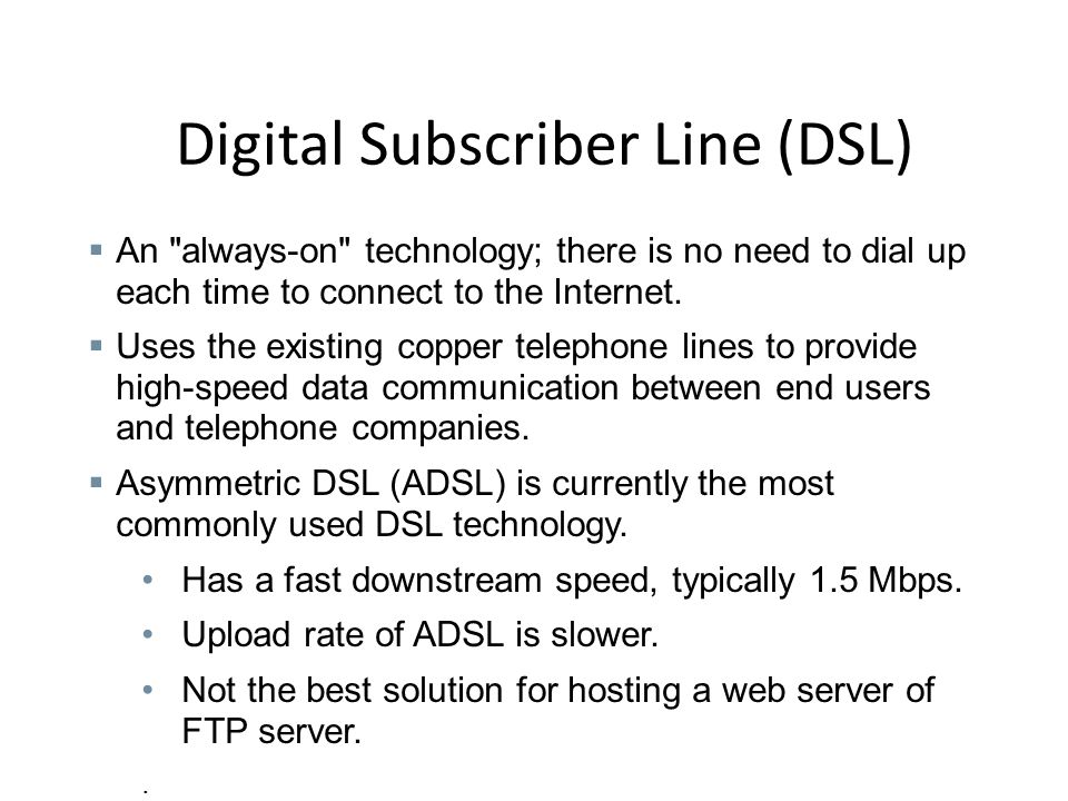 an in depth of the digital subscriber line dsl technology Explore digital subscriber line (dsl) with free download of seminar report and ppt in pdf and doc format also explore the seminar topics paper on digital subscriber.