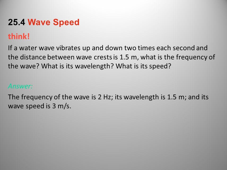 25.4 Wave Speed think!