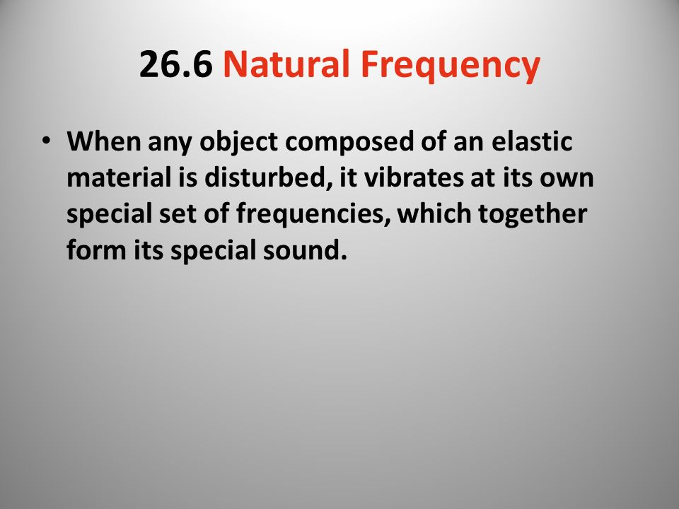 26.6 Natural Frequency