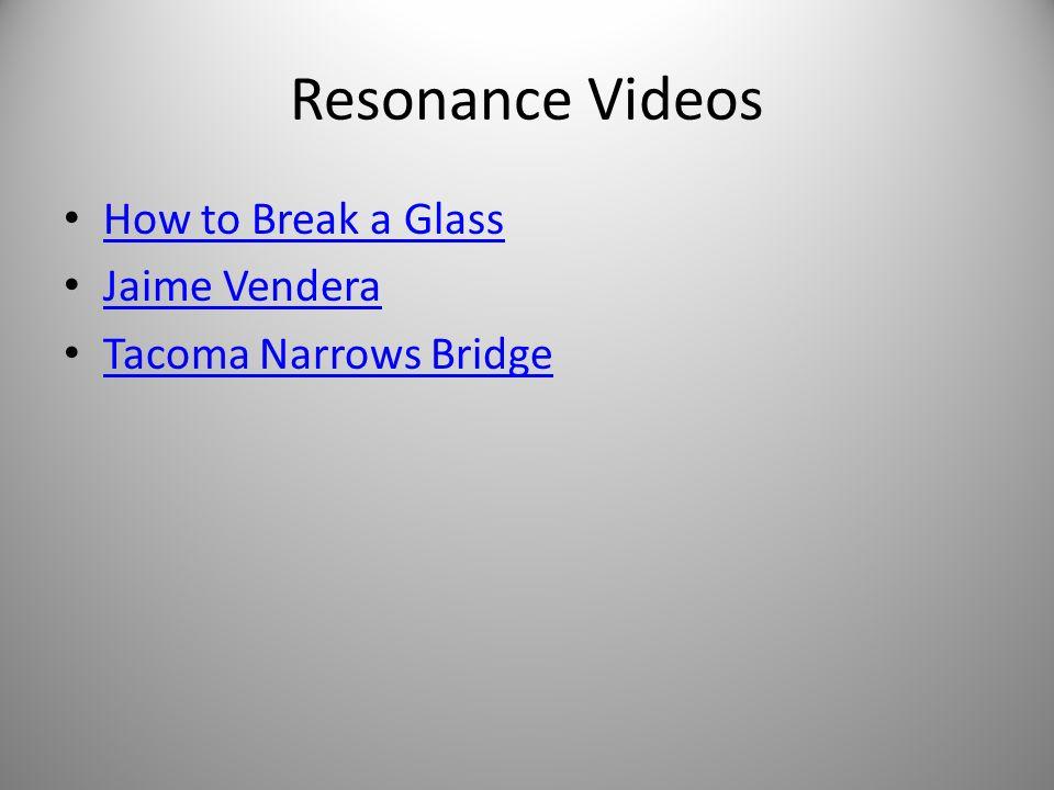 Resonance Videos How to Break a Glass Jaime Vendera