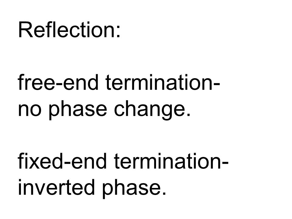 Reflection: free-end termination- no phase change