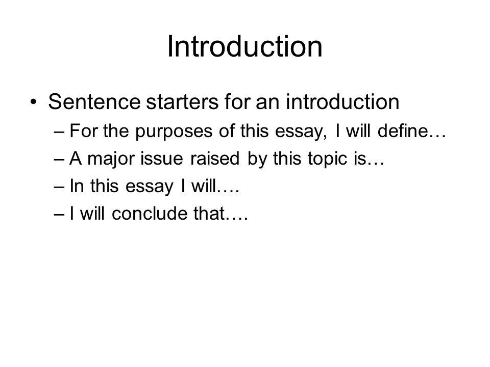 excellent essay introduction