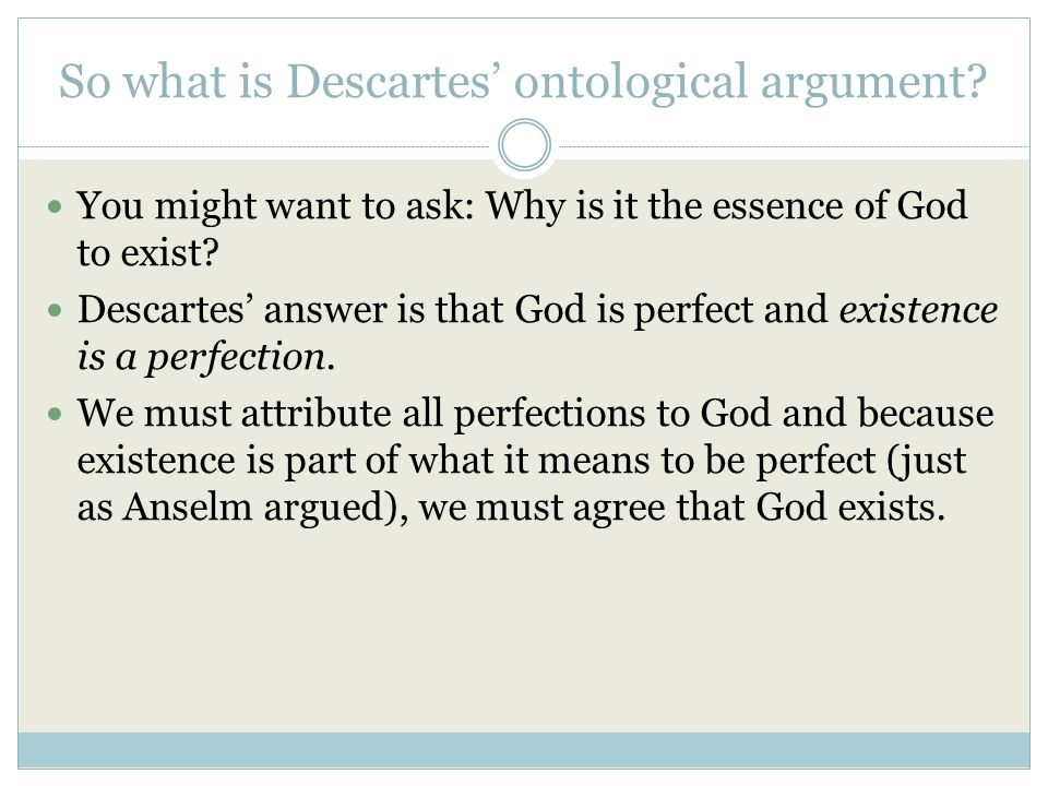 night elie wiesel essay assignment Descartes Existence of God