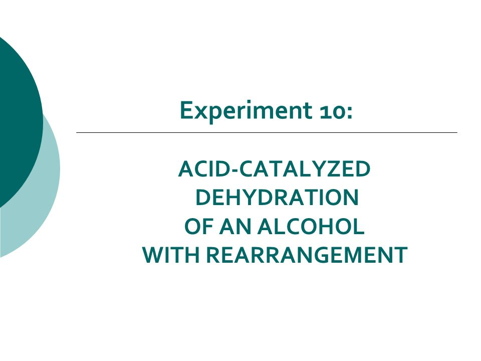 experiment dehydration of an alcohol Macro-scale experiments involving distillation and reflux of primary alcohols, to get aldehydes and acids respectively, may be useful to demonstrate the techniques involved, but seldom yield very satisfactory results in terms of identifying the products.