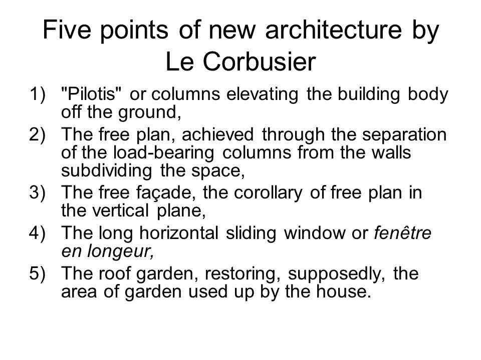 Philosophy built environment culture and people ppt for 5 points corbusier
