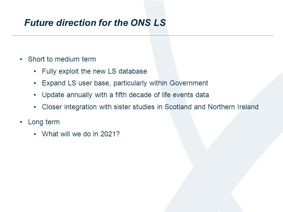 Future direction for the ONS LS