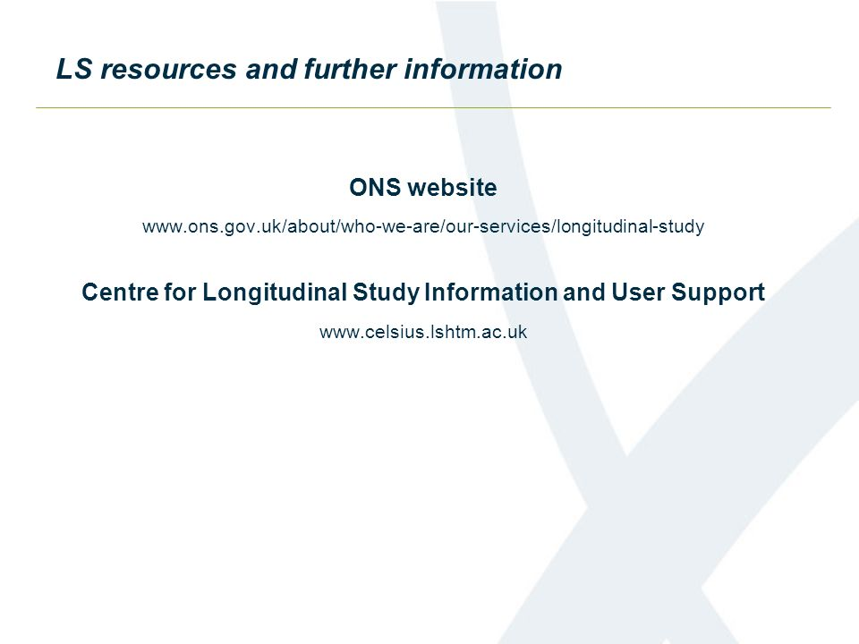 Centre for Longitudinal Study Information and User Support