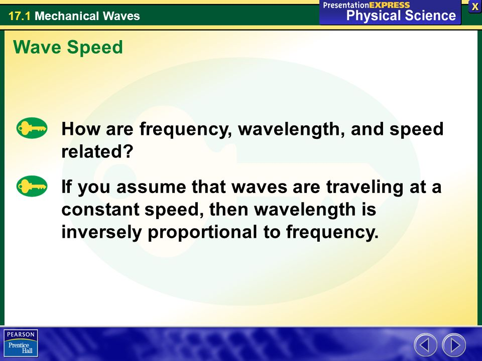 Wave Speed How are frequency, wavelength, and speed related