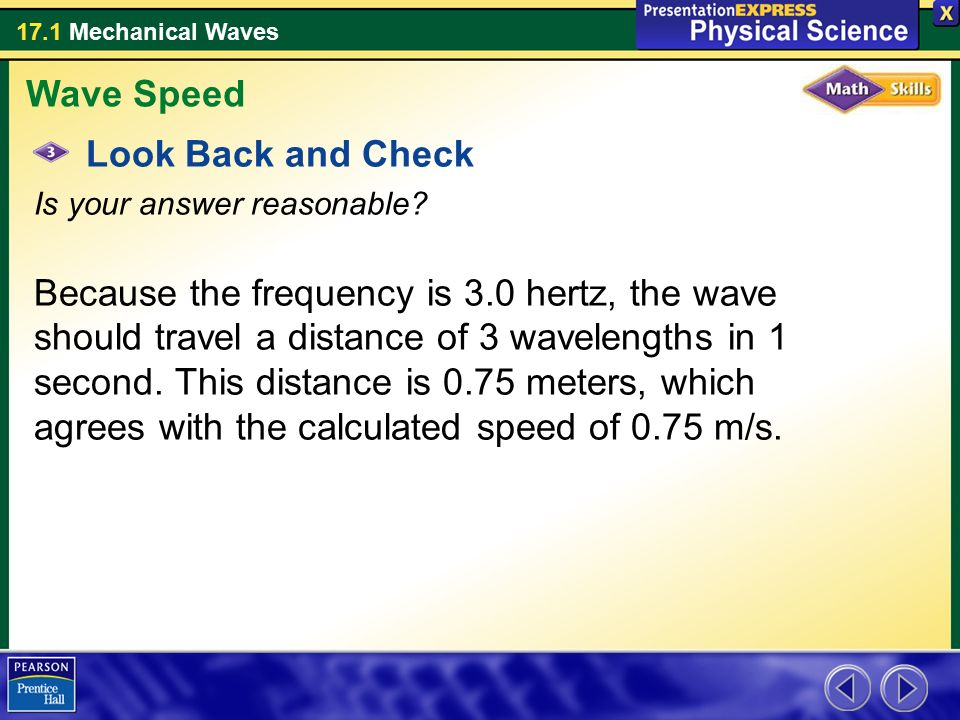 Wave Speed Look Back and Check