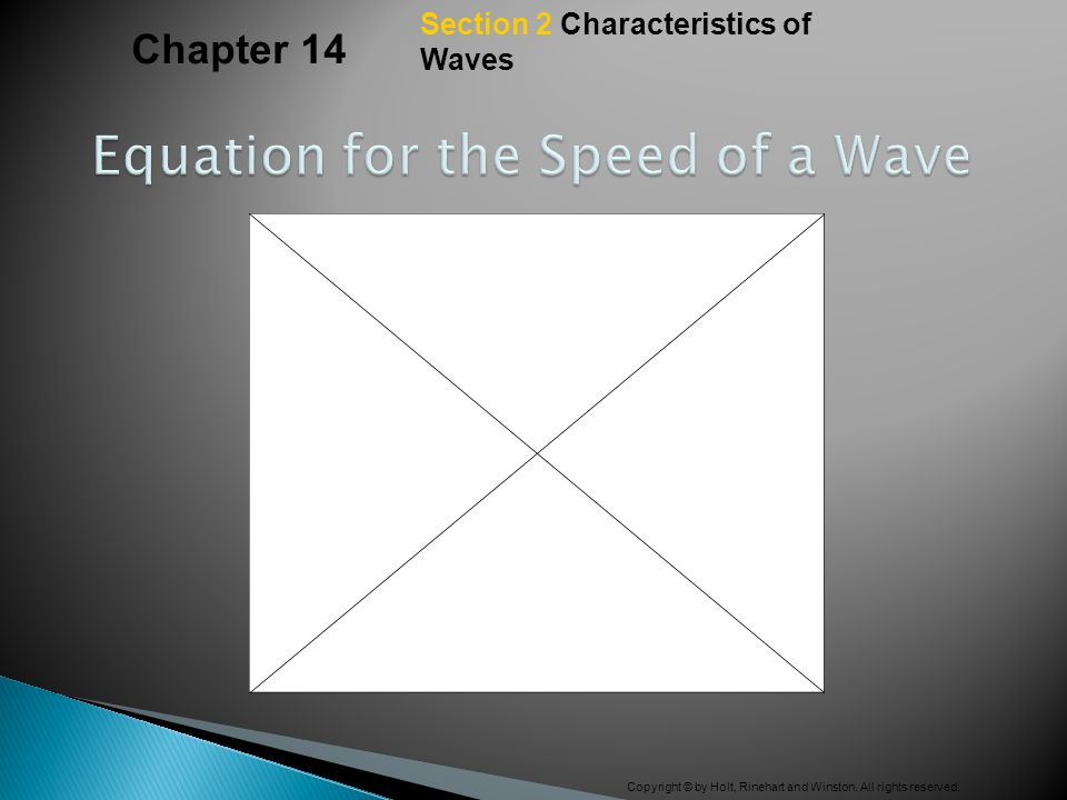 Equation for the Speed of a Wave