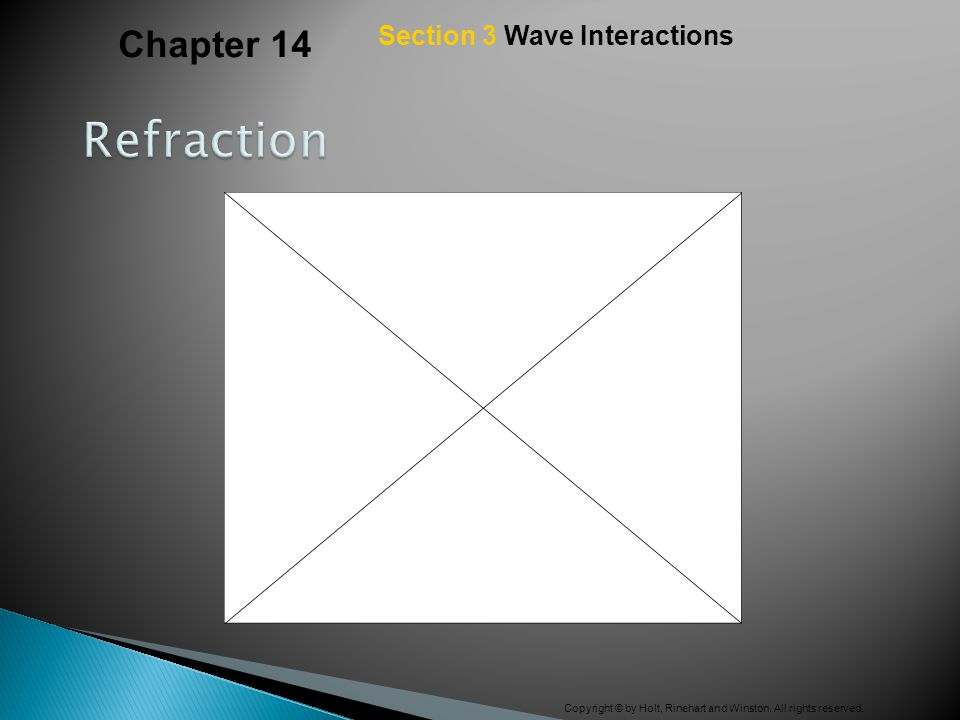 Chapter 14 Section 3 Wave Interactions Refraction