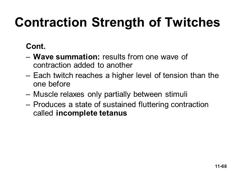 Contraction Strength of Twitches