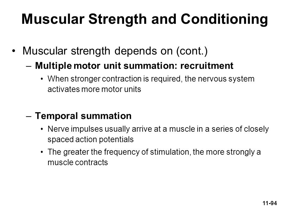 Muscular Strength and Conditioning