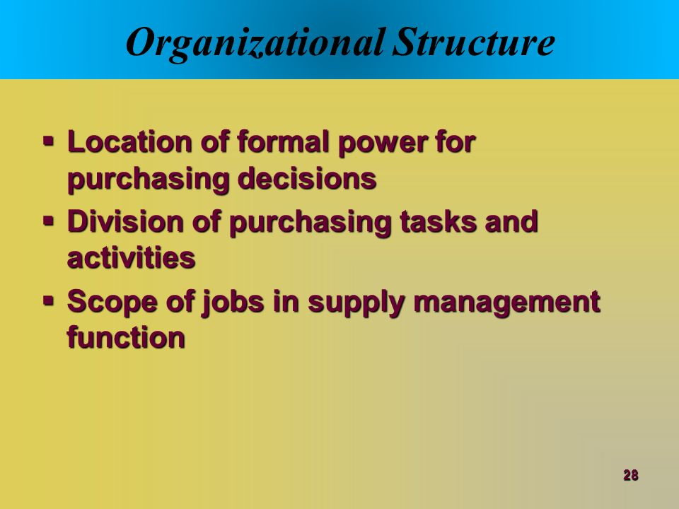 a large multinational organisation with centralised business unit procurement Challenges of purchasing centralization - empirical evidence from public procurement and private organizations kind of consequences the development of centralized purchasing and the phenomena.