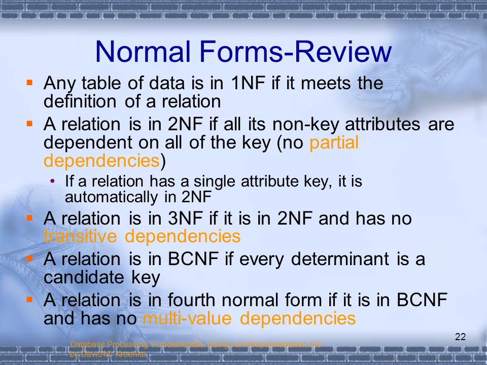 Chapter 3 The Relational Model and Normalization - ppt video ...