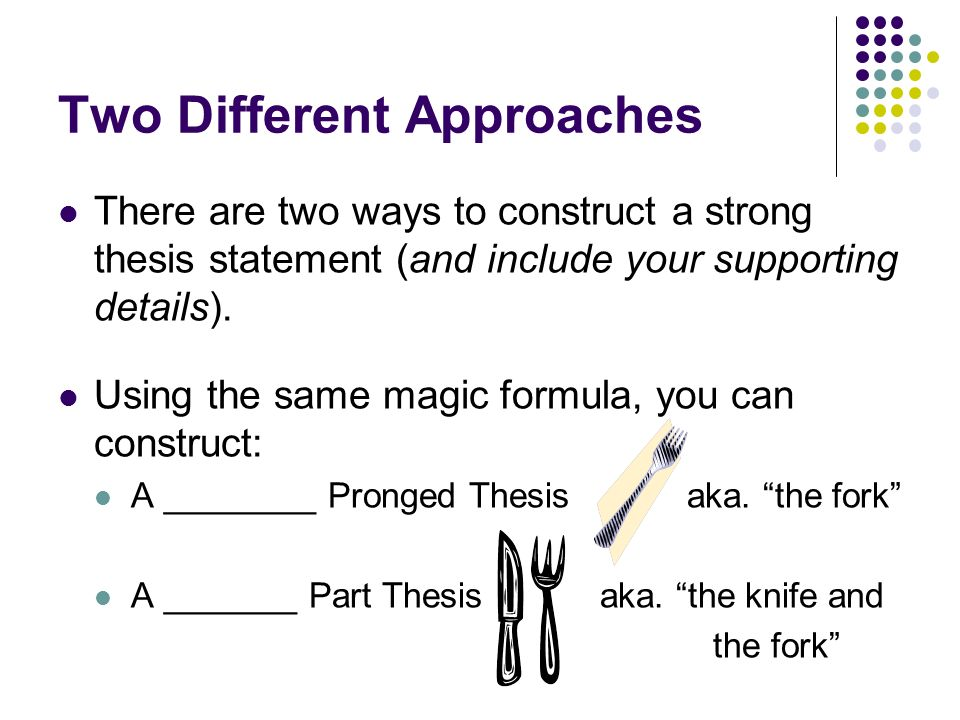 magic thesis statement formula Magic thesis statement and outline  write your thesis here using the 'magic formula':  title: microsoft word - magic thesis outlinedoc author: clougheed.