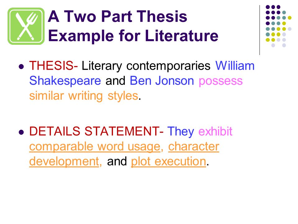 Thesis play literary term