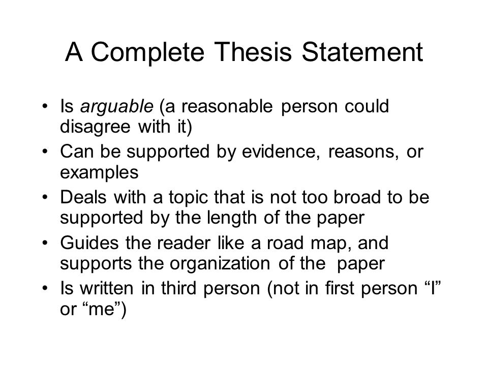 thesis statement writing tool