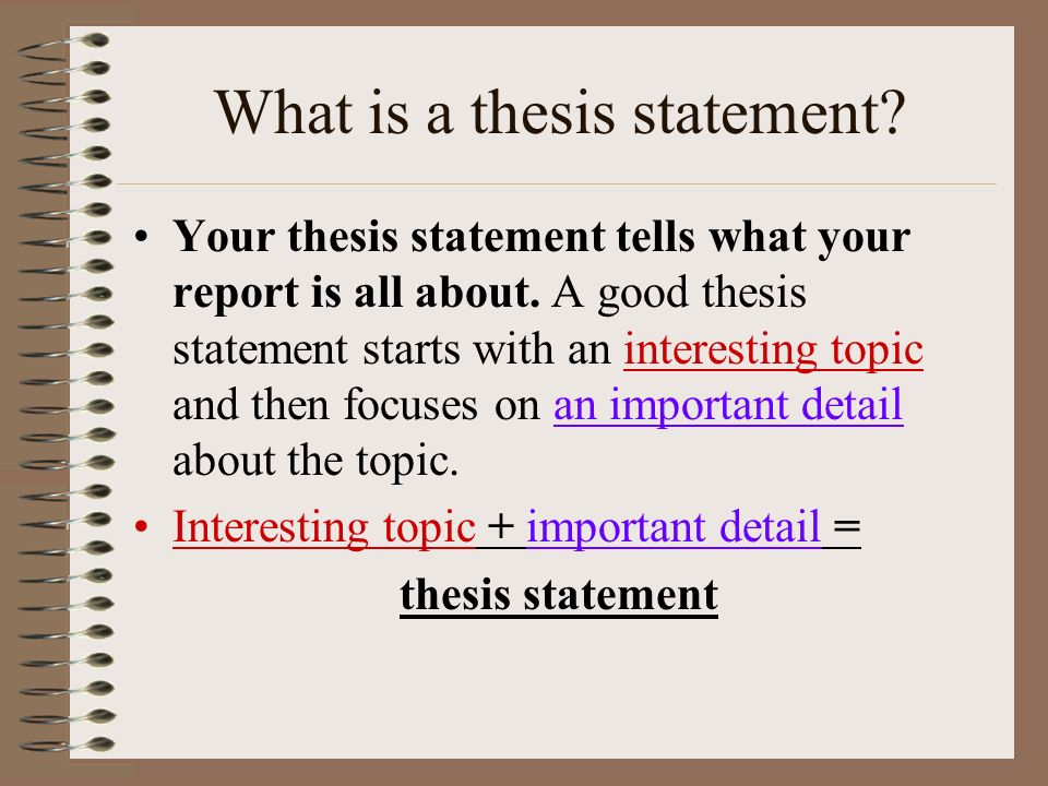 writing your thesis statement Writing thesis statements 2 position on a debatable issue in other words, when you write a thesis statement, you take a stand about something.