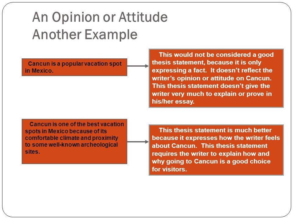 the roadmap of your essay ppt video online  an opinion or attitude another example