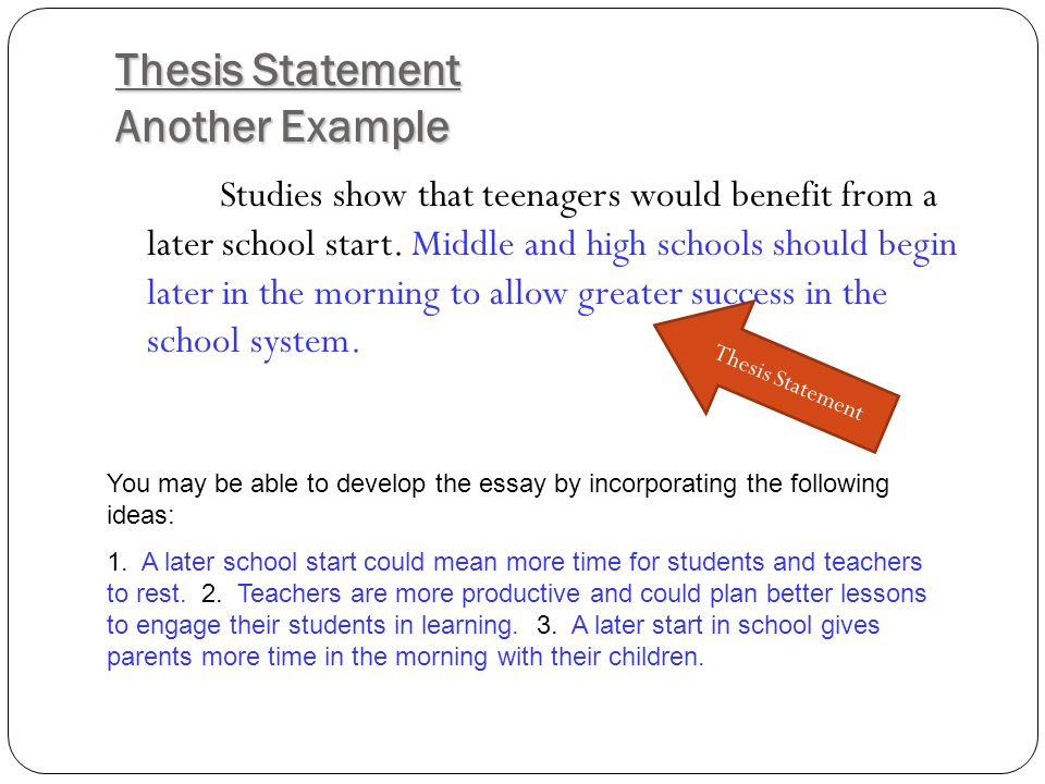 how to form a thesis statement for a research paper