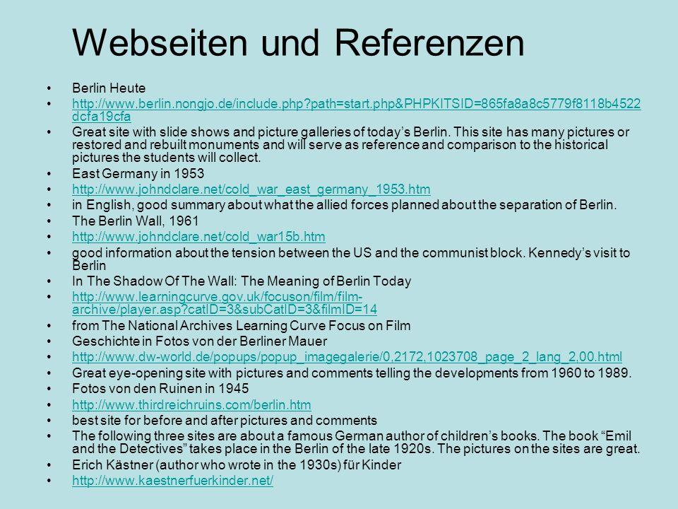Webseiten und Referenzen