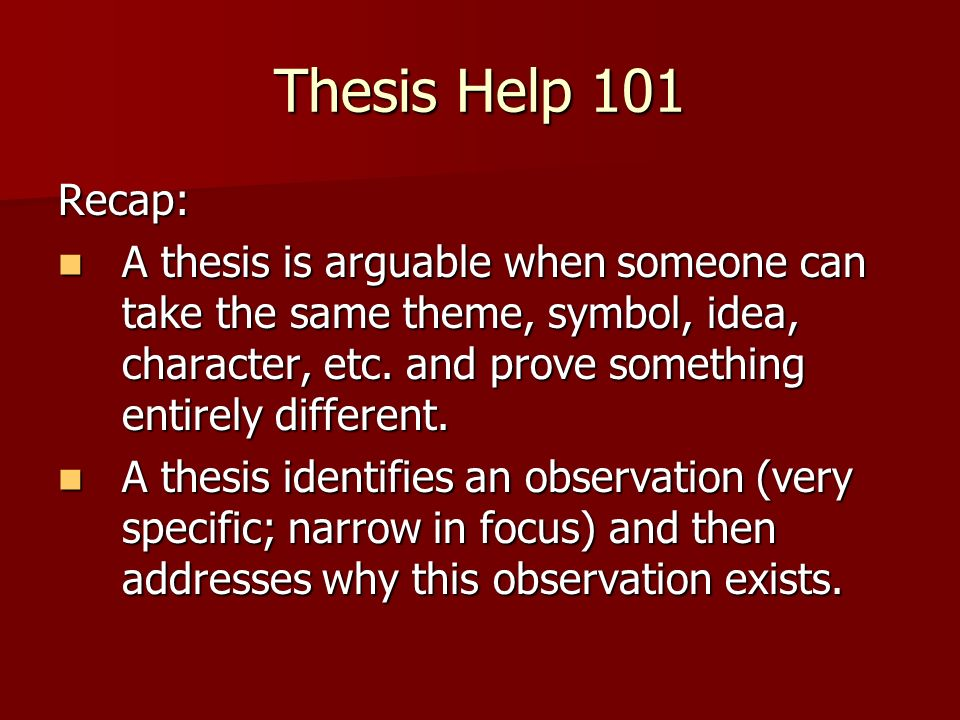 help constructing thesis Creating a thesis statement  a thesis statement can be very helpful in constructing the outline  and it can also help to keep your argument in good.