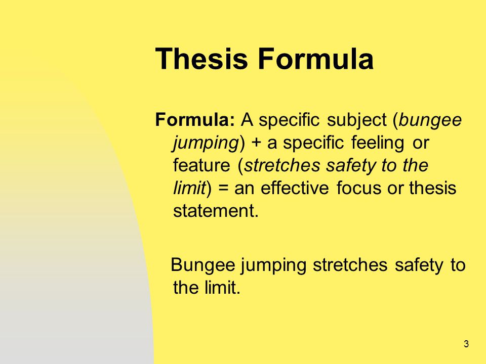 English Essay Formula: Thesis Statement and Introduction
